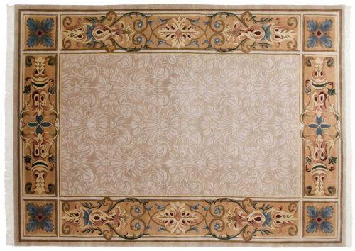 10×14 Savonnerie Beige Oriental Large Rug 036902