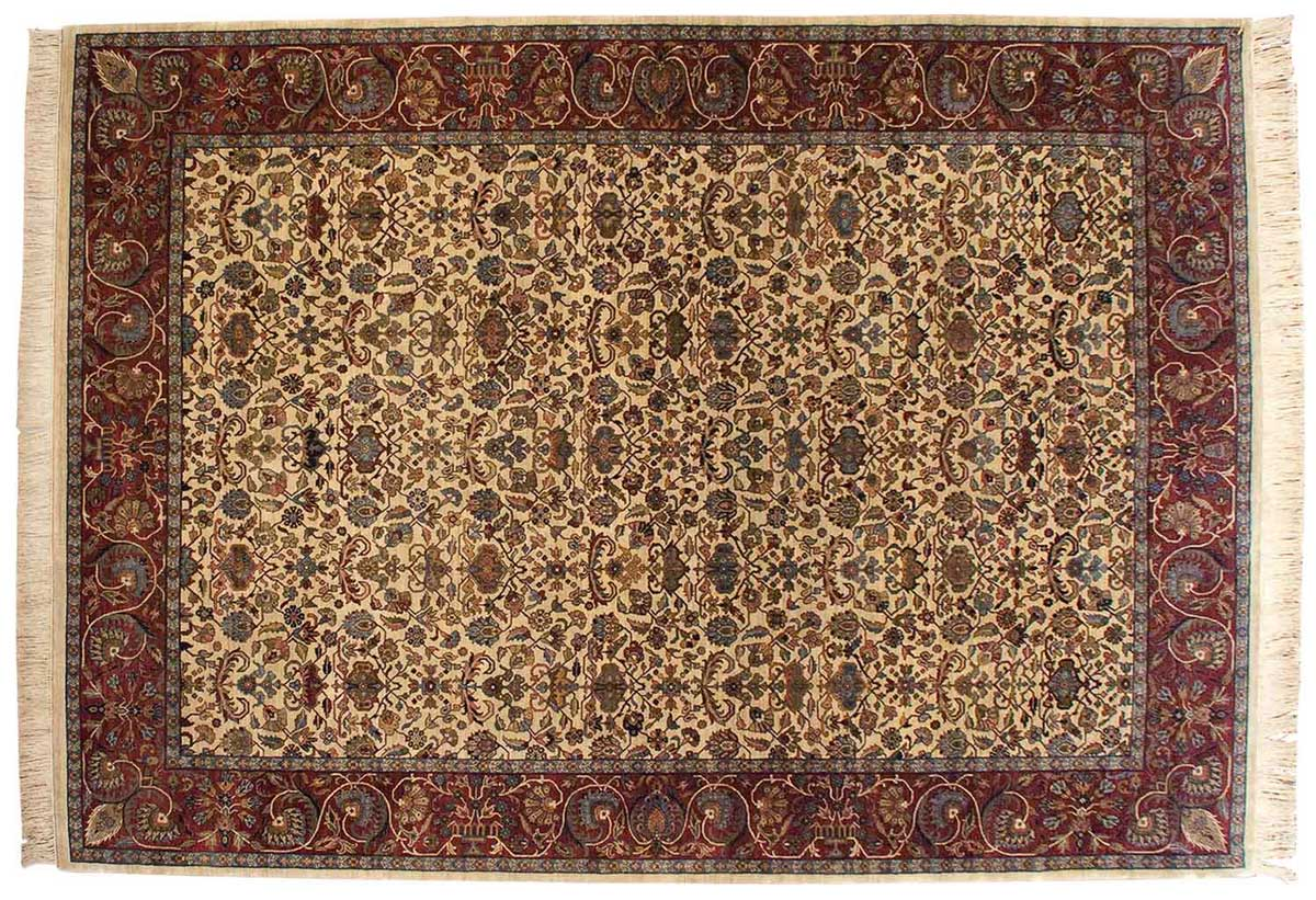 10x14 Sultanabad Ivory Oriental Rug 032340