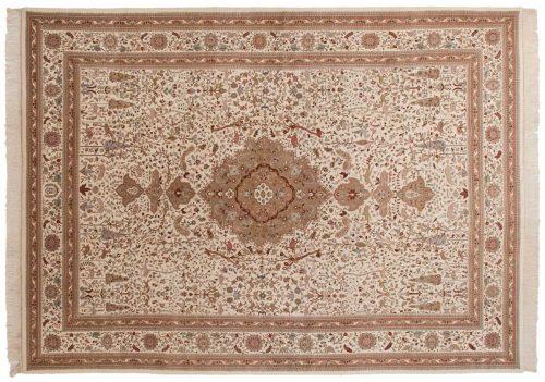 10×14 Tabriz Ivory Oriental Large Rug 033695