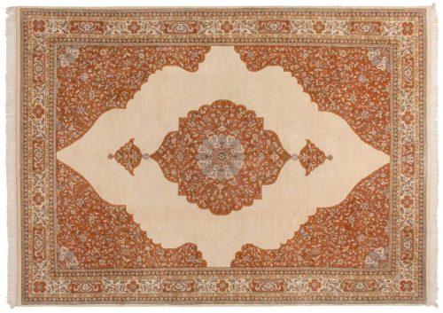 10×14 Tabriz Ivory Oriental Rug 014846