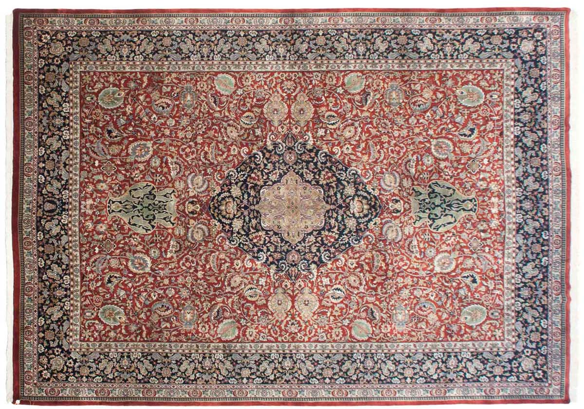 10x14 Tabriz Red Oriental Large Rug 037911