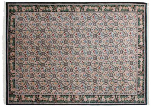 10×14 Trellis Ivory Oriental Rug 036814