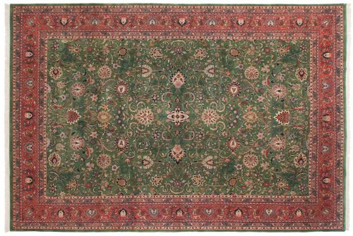 10×15 Meshed Green Oriental Large Rug 024885