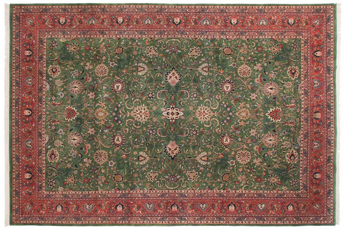 10x15 Meshed Green Oriental Large Rug 024885