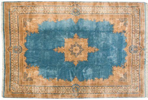 10×15 Persian Kerman Blue Oriental Large Rug 012225