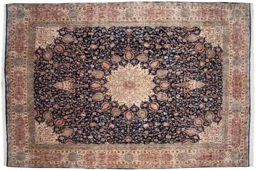 10×15 Persian Kerman Blue Oriental Large Rug 012277