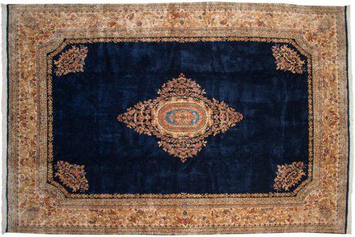 10×15 Persian Kerman Blue Oriental Large Rug 012310