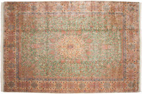 10×15 Persian Kerman Green Oriental Large Rug 012155