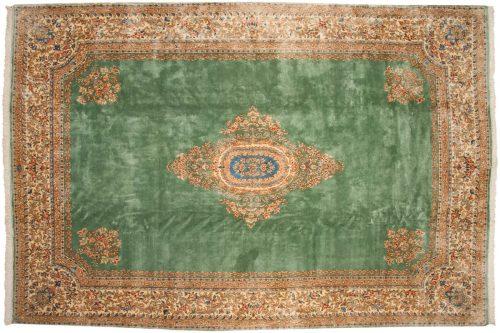 10×15 Persian Kerman Green Oriental Large Rug 012240