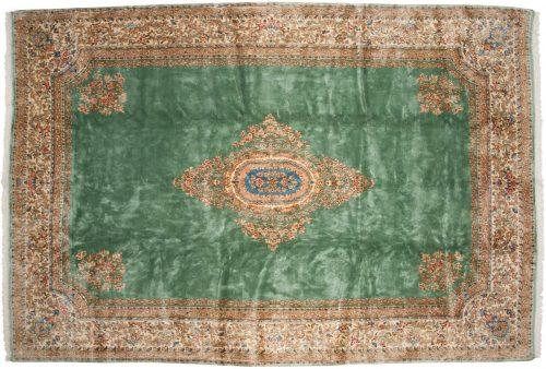 10×15 Persian Kerman Green Oriental Large Rug 012241