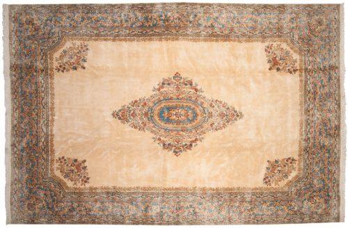 10×15 Persian Kerman Ivory Oriental Large Rug 012326