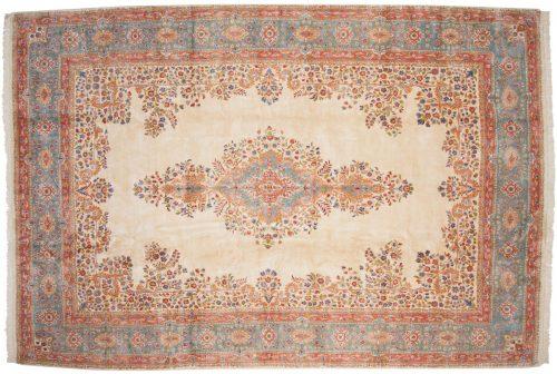 10×15 Persian Kerman Ivory Oriental Large Rug 017126
