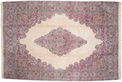 10×15 Persian Kerman Ivory Oriental Large Rug 017612