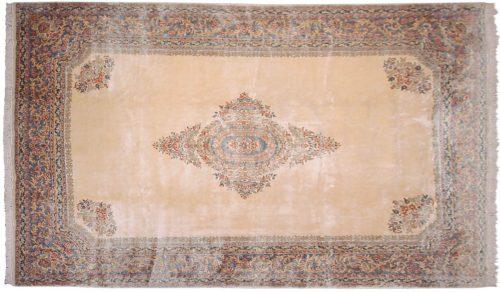 10×17 Persian Kerman Ivory Oriental Large Rug 012345