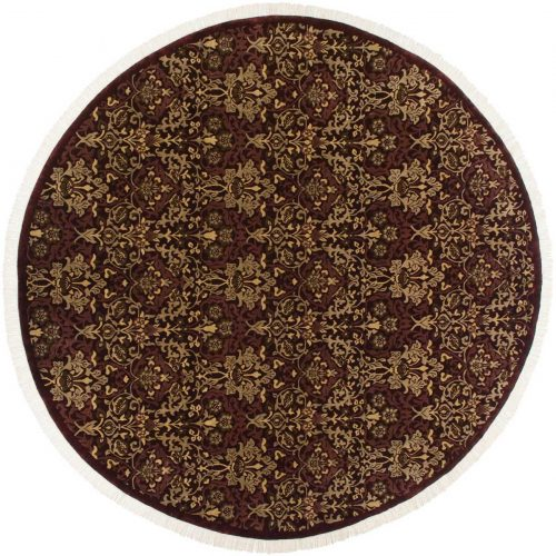 11×11 William Morris Burgundy Oriental Round Rug 037935