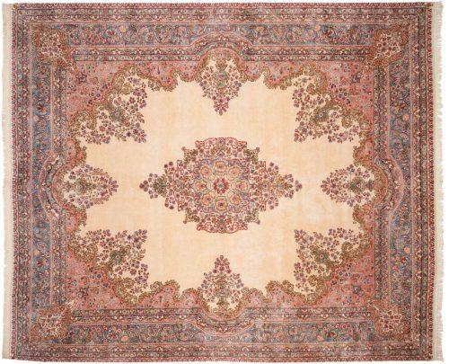11×13 Persian Kerman Ivory Oriental Large Rug 017583