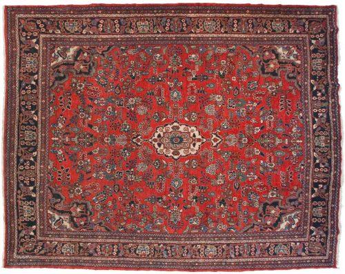 11×14 Persian Hamadan Red Oriental Rug 013559