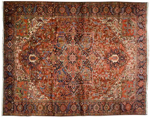 11×13 Persian Heriz Rust Oriental Large Rug 035035