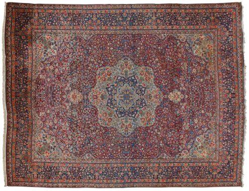 11×14 Persian Kerman Red Oriental Large Rug 011158