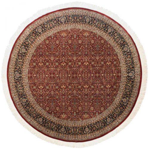 12×12 Tabriz Red Oriental Round Rug 039618