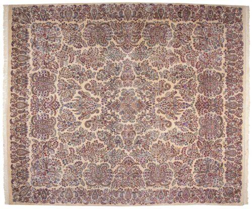 12×14 Persian Kerman Ivory Oriental Large Rug 017620