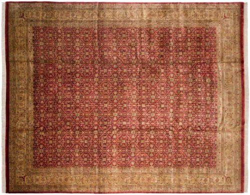 12×15 Agra Burgundy Oriental Large Rug 038671