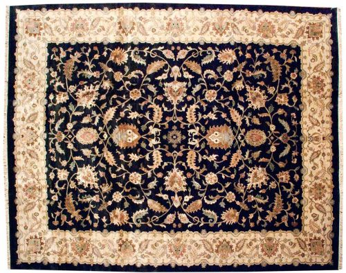 12×15 Floral Black Oriental Large Rug 038713