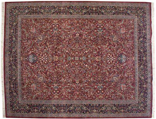 12×15 Kashan Burgundy Oriental Large Rug 021111