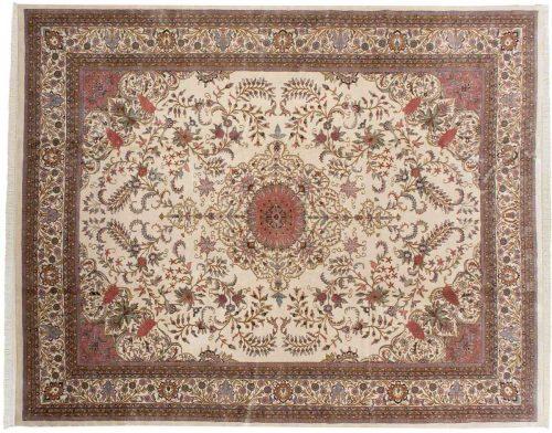 12×15 Kashan Ivory Oriental Large Rug 030767