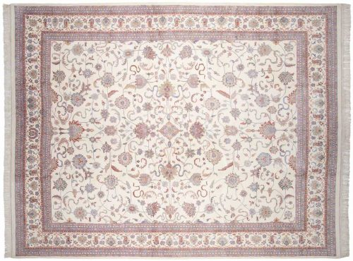 12×15 Kashan Ivory Oriental Large Rug 033721