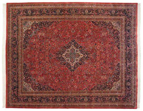 12×15 Kashan Red Oriental Large Rug 031079