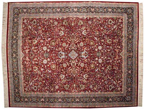 12×15 Kashan Red Oriental Large Rug 033705