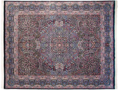 12×15 Kerman Blue Oriental Large Rug 038673