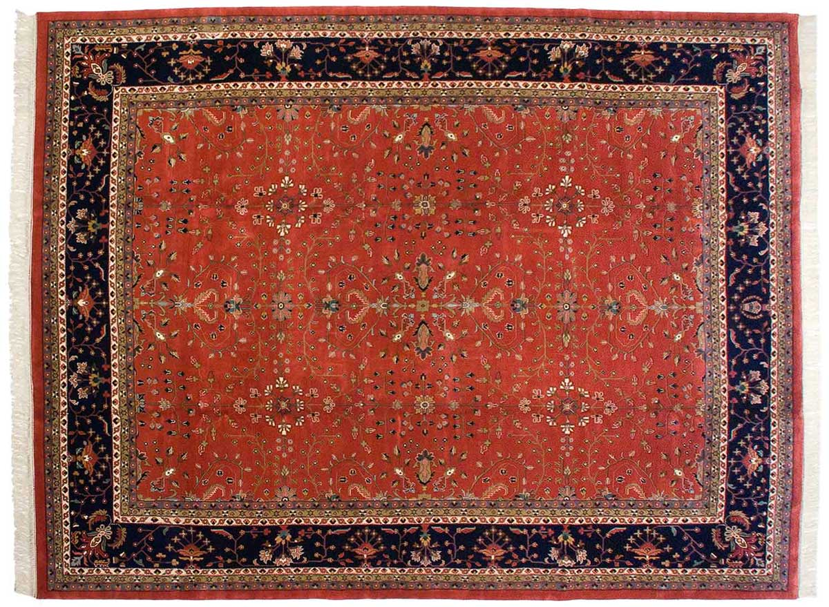 12x15 Sarouk Red Oriental Large Rug 031684
