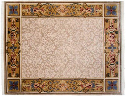 12×15 Savonnerie Beige Oriental Large Rug 037489