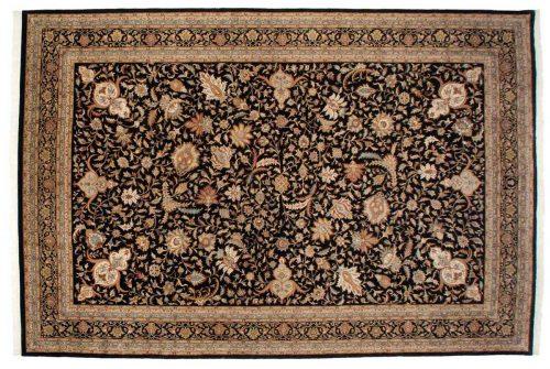 12×18 Isfahan Black Oriental Large Rug 039286