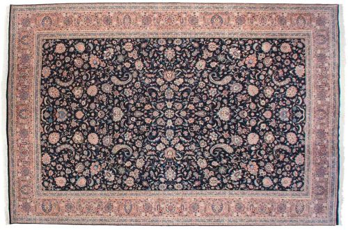 12×18 Persian Black Oriental Large Rug 039760