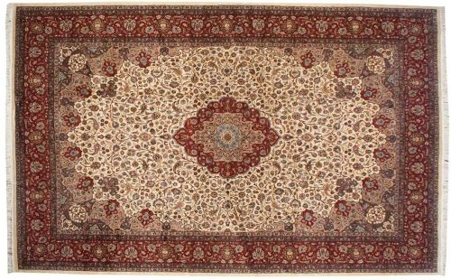 12×19 Persian Ivory Oriental Large Rug 021535