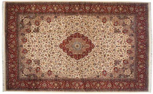 12×19 Persian Ivory Oriental Large Rug 021535