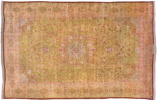 16×24 Persian Tabriz Green Oriental Oversize Rug 028411
