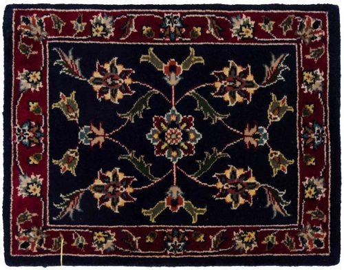 1×2 Kashan Blue Oriental Square Rug 041337