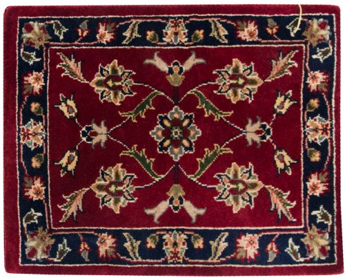 1×2 Kashan Red Oriental Square Rug 041364