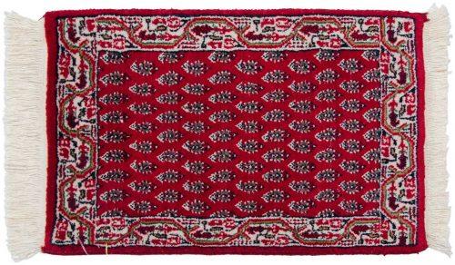 1×2 Persian Burgundy Oriental Rug 037712