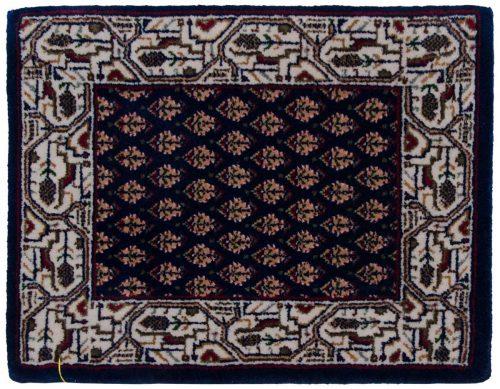 1×2 Sarouk Blue Oriental Rug 045712