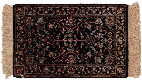 1×2 Tabriz Black Oriental Rug 038332