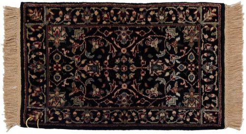 1×2 Tabriz Black Oriental Rug 038333