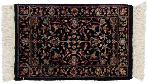 1×2 Tabriz Black Oriental Rug 038781