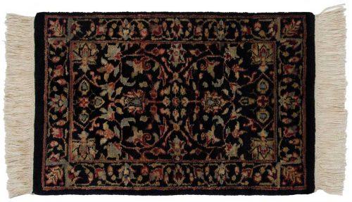 1×2 Tabriz Black Oriental Rug 039192