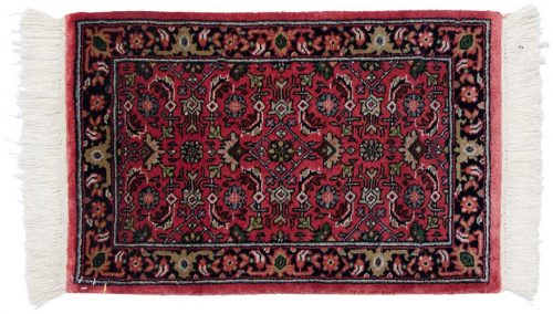 1×2 Tabriz Red Oriental Rug 038787