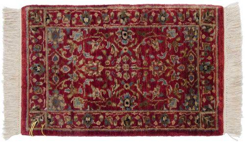 1×2 Tabriz Red Oriental Rug 038993